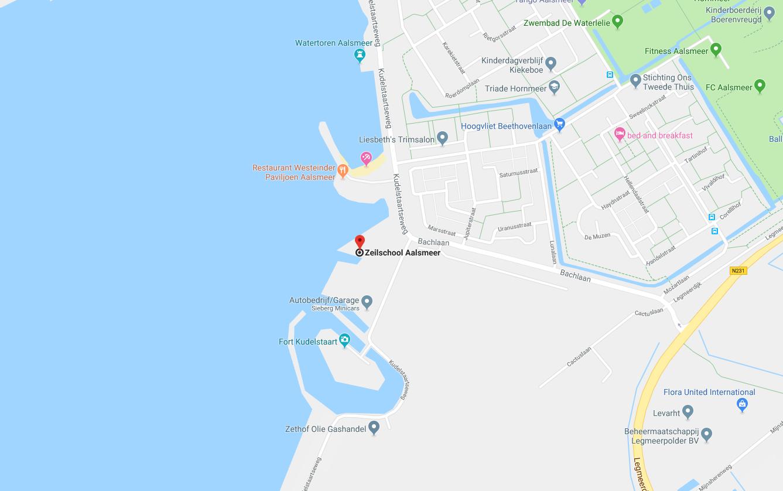 map naar zeilschool